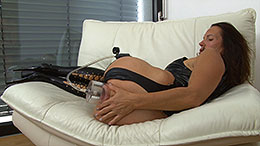 Asshole forced to prolapse with anal pumping