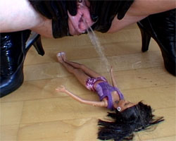 Pissing on Doll